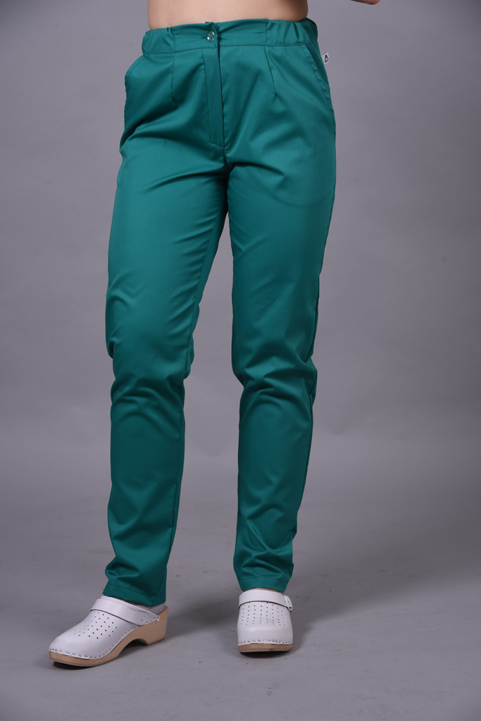 Spodnie medyczne damskie kolor HOSPITAL GREEN