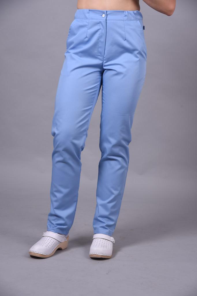 Spodnie medyczne damskie kolor Sky